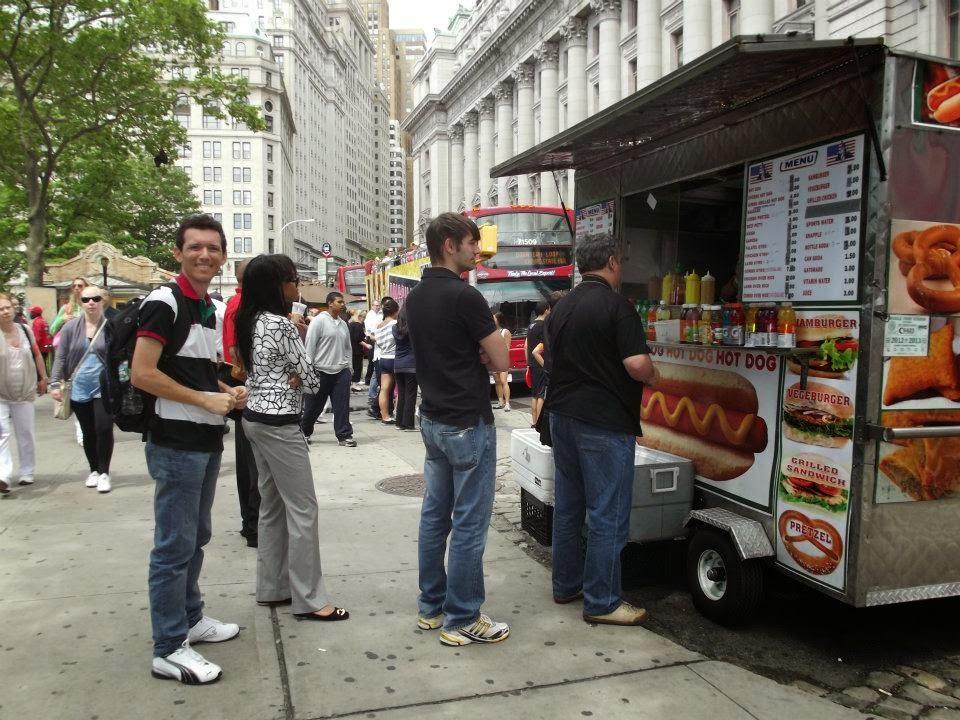 Comida de rua em Nova York