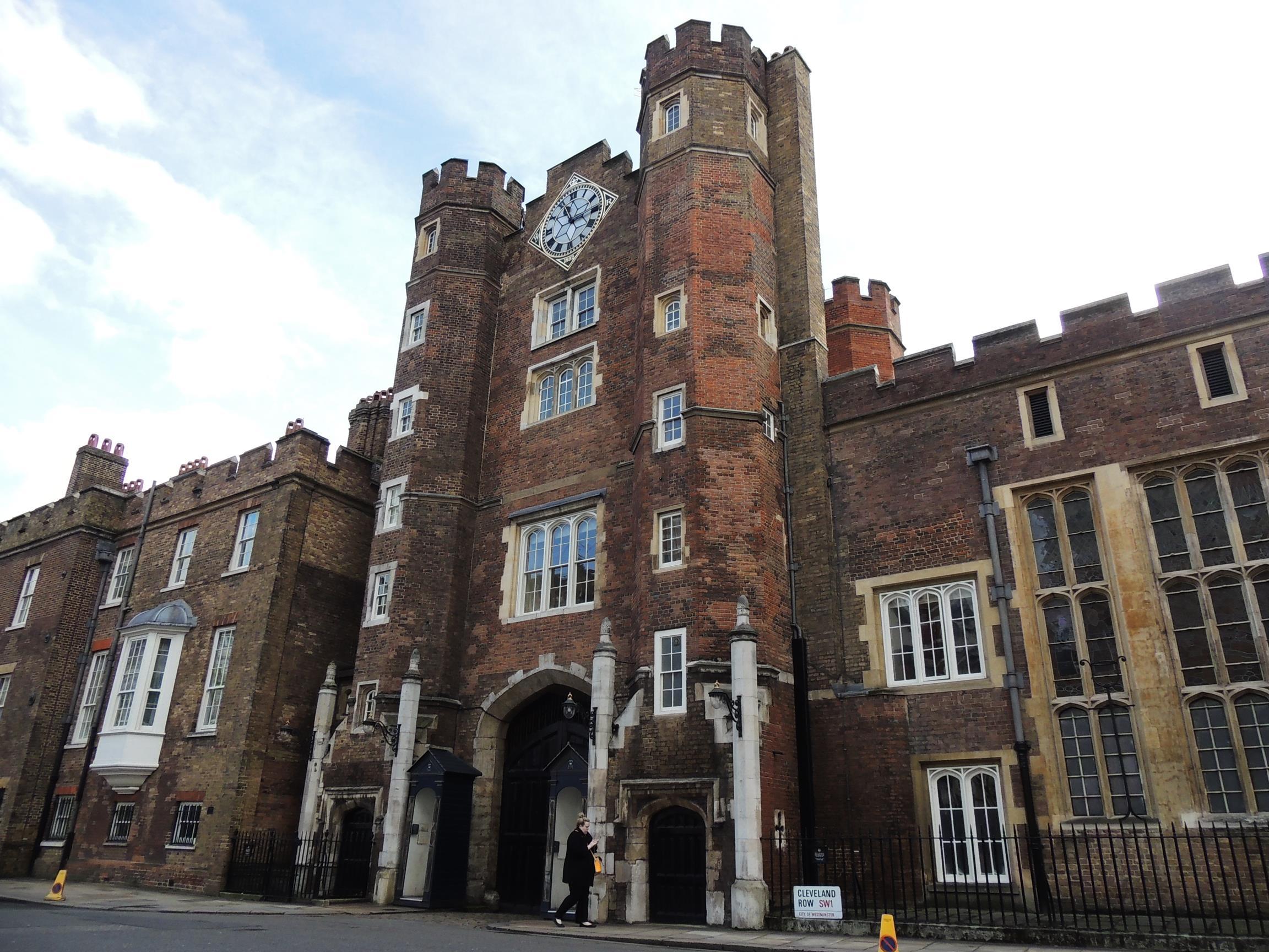 Palácio St. James, em Londres