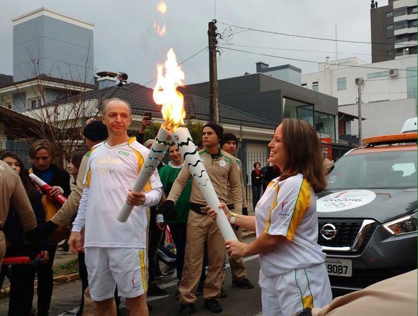 Revezamento da Tocha Olímpica em Bento Gonçalves