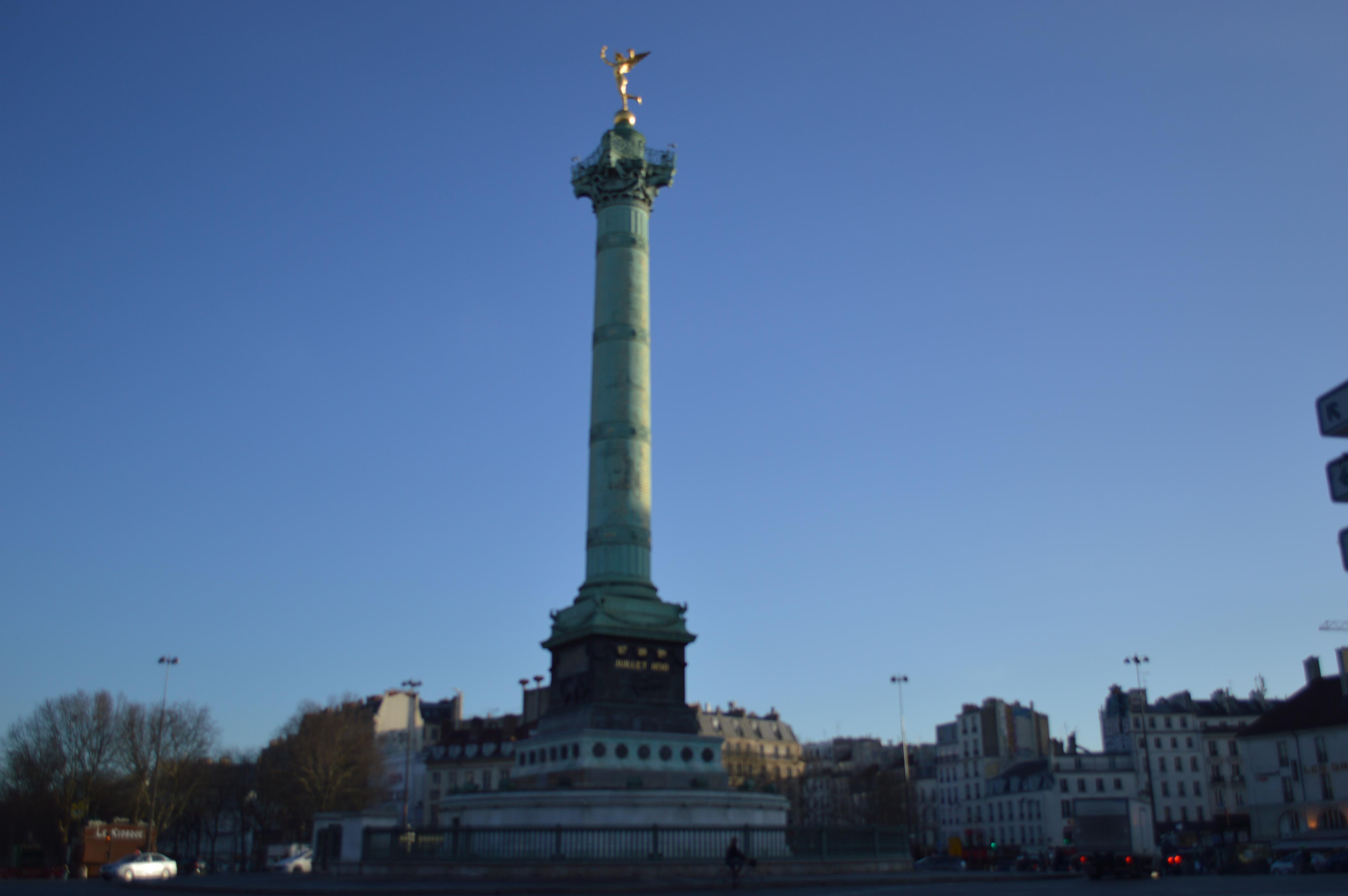 Praça da Bastilha, em Paris