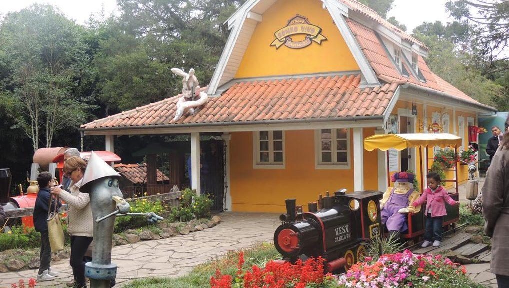 Trenzinho no Parque do Caracol, em Canela