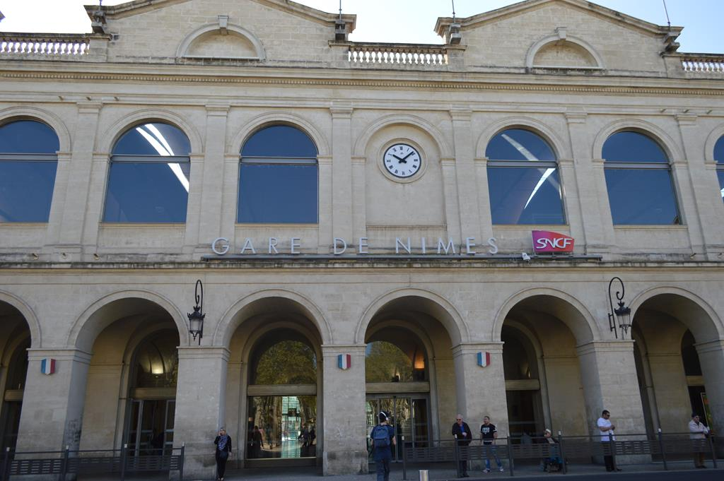 Estação de trem, em Nimes