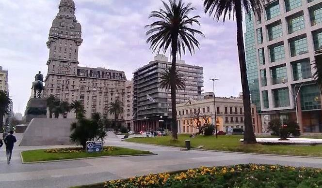 Plaza Independência, em Montevidéu